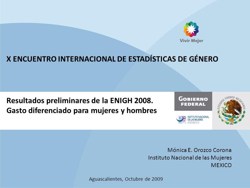 Resultados preliminares de la ENIGH 2008.