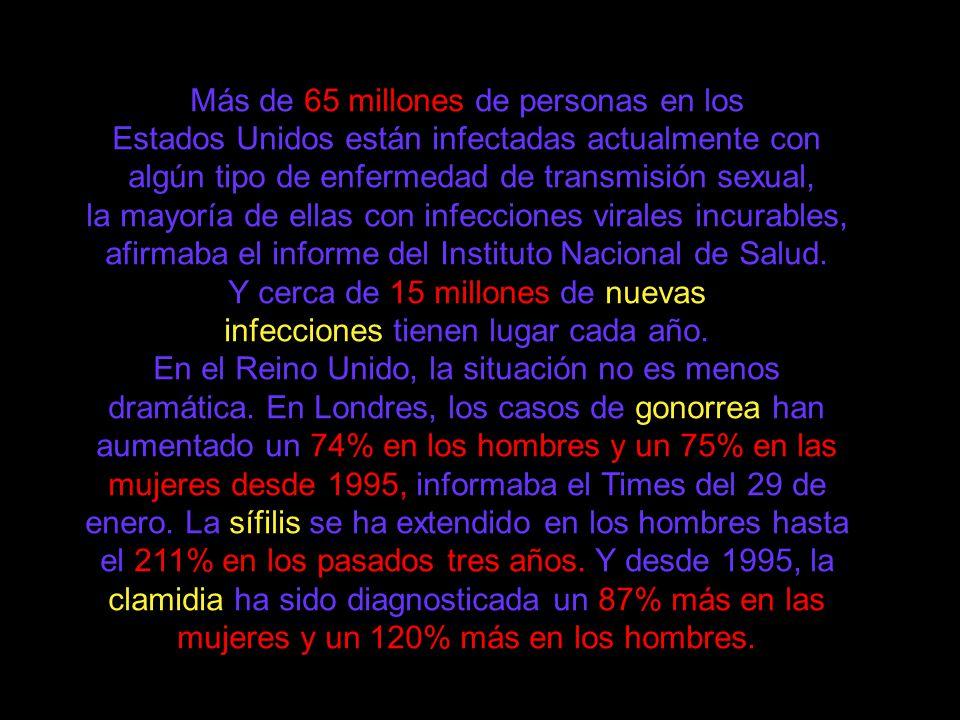 SIDA CONTAGIO CUALQUIER TIPO DE RELACION SEXUAL VAGINAL, ANAL, ORAL JERINGAS INFECTADAS TRANSFUSION DE SANGRE O PRODUCTOS SANGUINEOS.