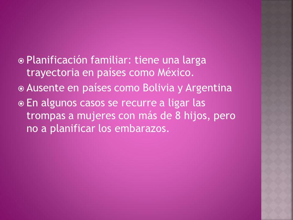  Planificación familiar: tiene una larga trayectoria en países como México.
