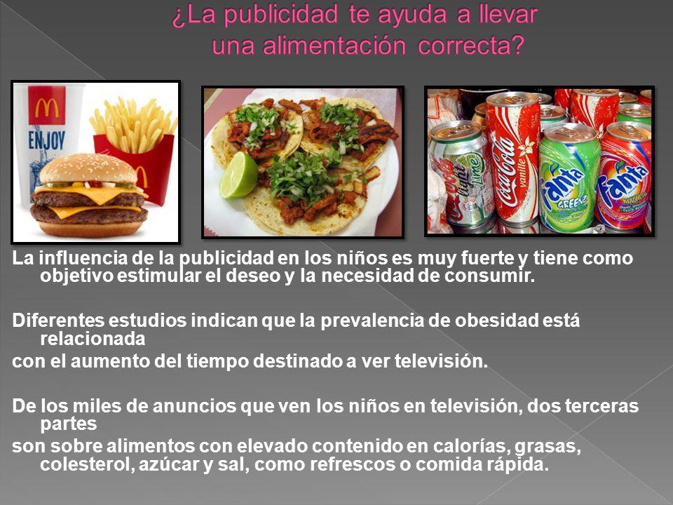 La influencia de la publicidad en los niños es muy fuerte y tiene como objetivo estimular el deseo y la necesidad de consumir.