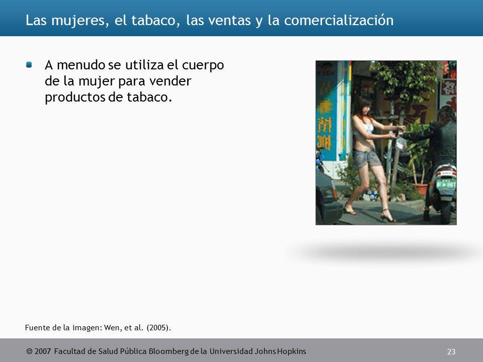  2007 Facultad de Salud Pública Bloomberg de la Universidad Johns Hopkins 23 Fuente de la imagen: Wen, et al.