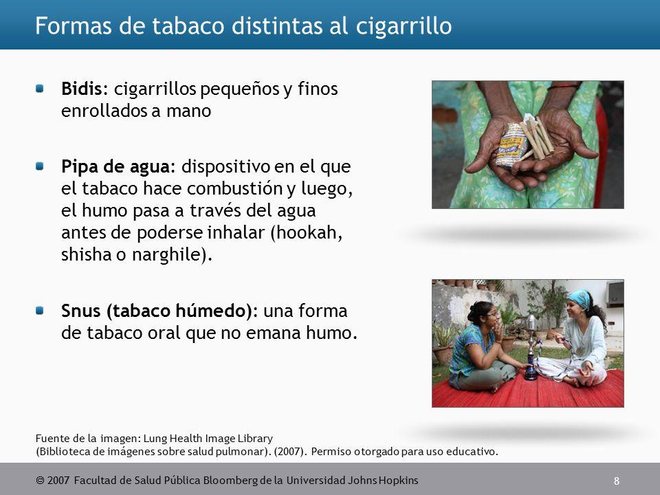 2007 Facultad de Salud Pública Bloomberg de la Universidad Johns Hopkins 8 Fuente de la imagen: Lung Health Image Library (Biblioteca de imágenes sobre salud pulmonar).