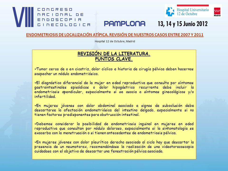 REVISIÓN DE LA LITERATURA. PUNTOS CLAVE.