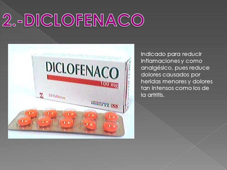 Indicado para reducir inflamaciones y como analgésico, pues reduce dolores causados por heridas menores y dolores tan intensos como los de la artritis.