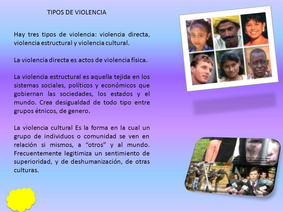 VIOLENCIA Es un comportamiento deliberado y consiente.