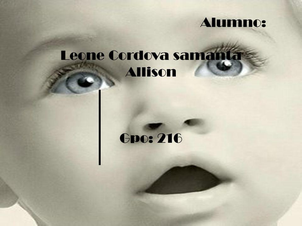 Alumno: Leone Cordova samanta Allison Gpo: 216
