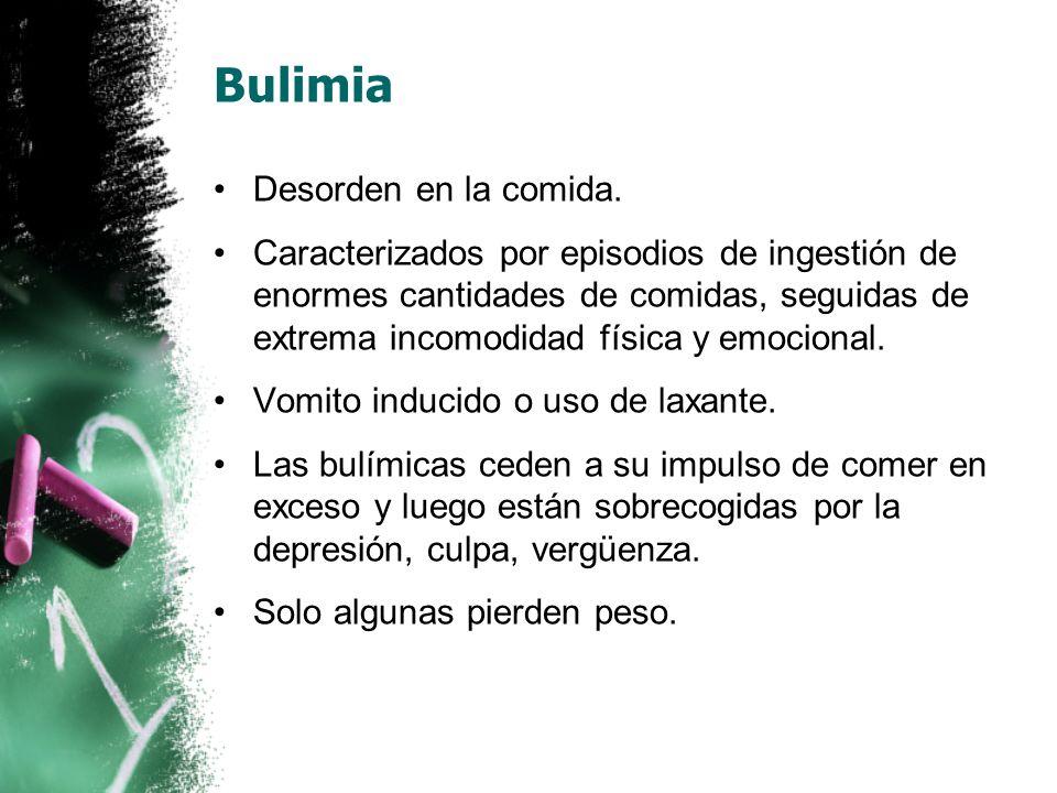 Bulimia Desorden en la comida.