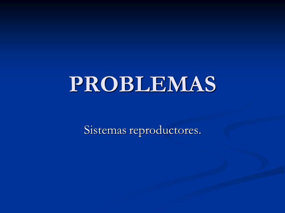 PROBLEMAS Sistemas reproductores.