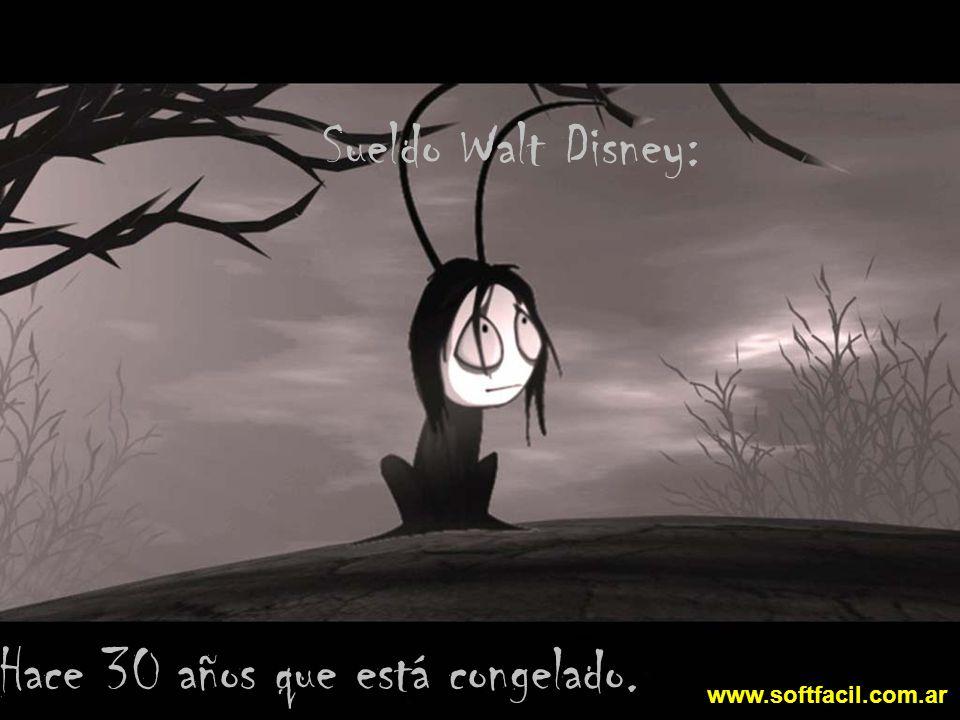 Sueldo Walt Disney: Hace 30 años que está congelado. www.softfacil.com.ar