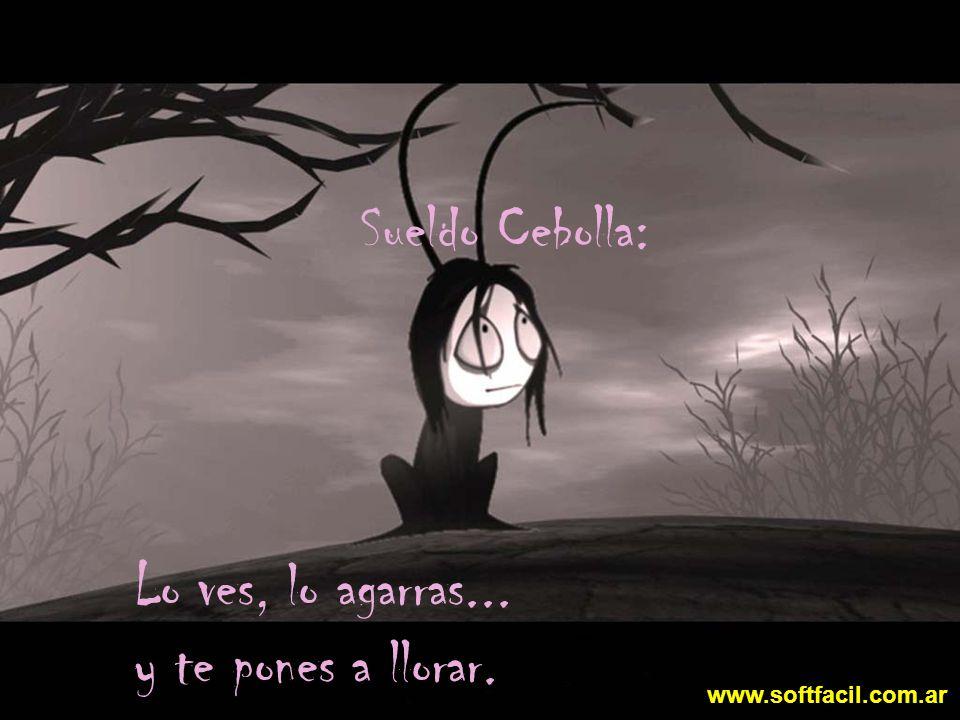 Lo ves, lo agarras... y te pones a llorar. Sueldo Cebolla: www.softfacil.com.ar