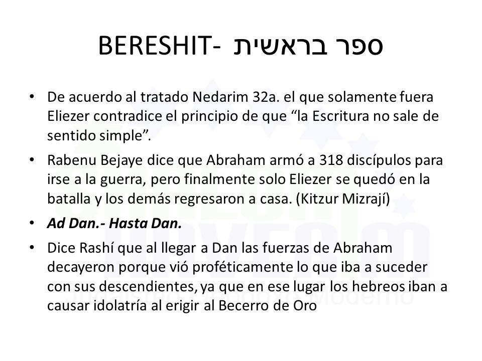 BERESHIT- ספר בראשית De acuerdo al tratado Nedarim 32a.