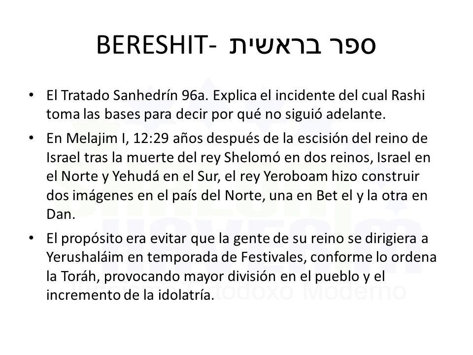 BERESHIT- ספר בראשית El Tratado Sanhedrín 96a.