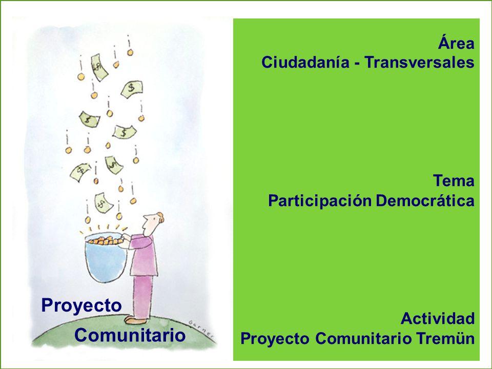 Área Ciudadanía - Transversales Tema Participación Democrática Actividad Proyecto Comunitario Tremün Proyecto Comunitario