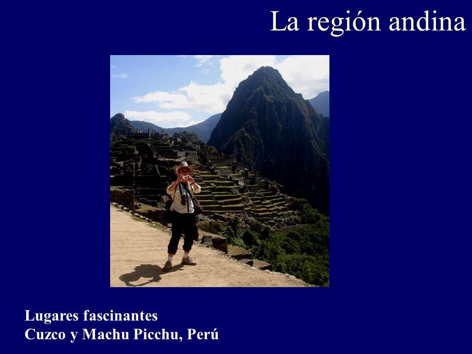 La región andina Lugares fascinantes Cuzco y Machu Picchu, Perú