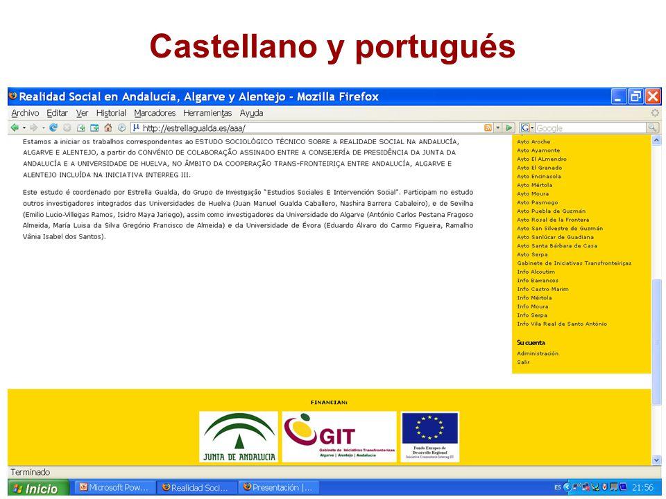 Castellano y portugués