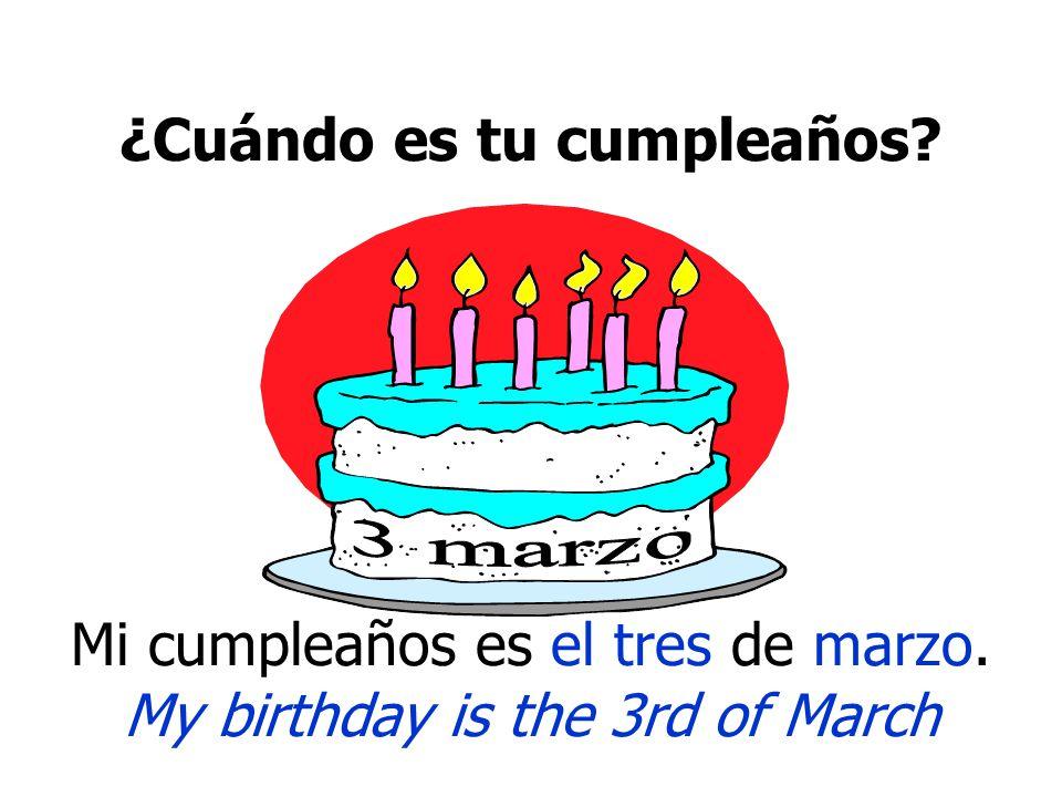 ¿Cuándo es tu cumpleaños.