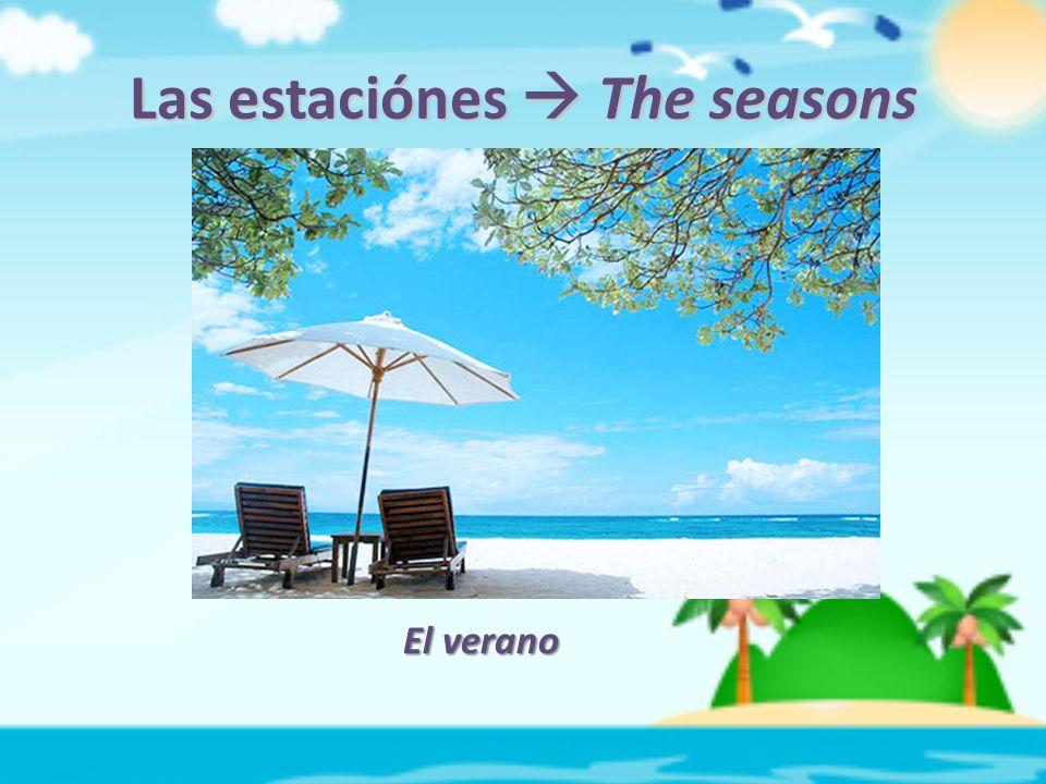 Las estaciónes  The seasons El verano