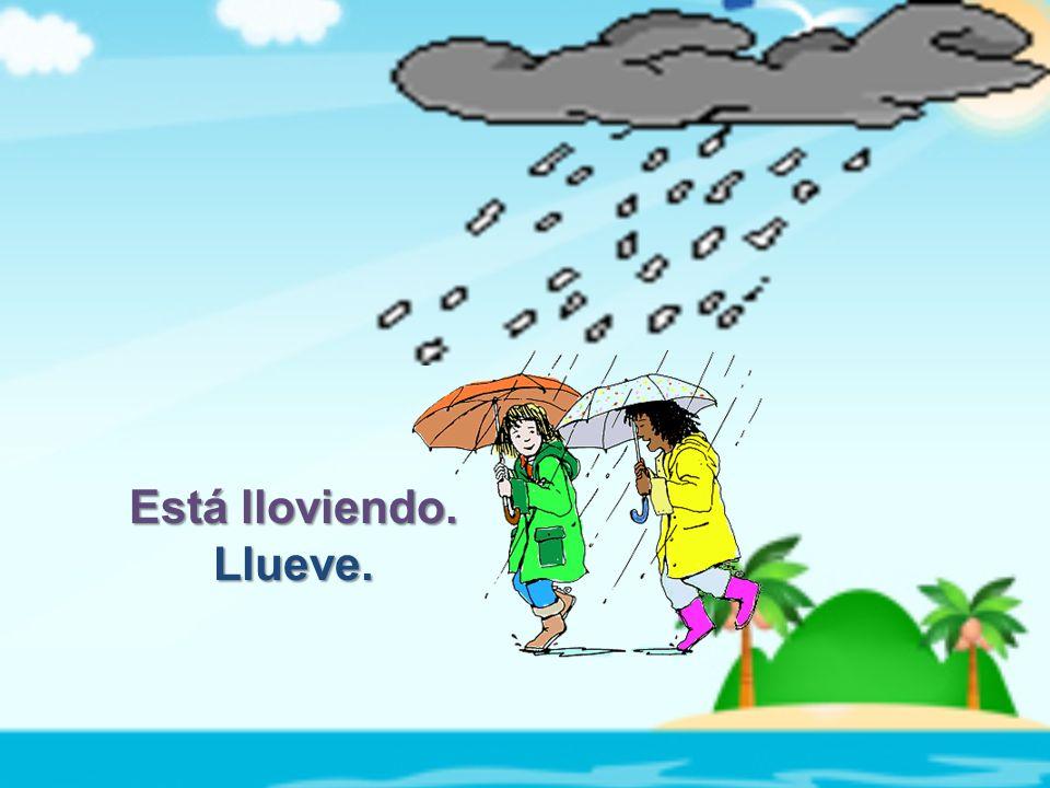 Está lloviendo. Llueve.