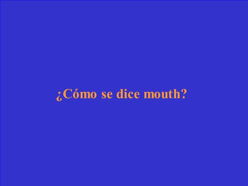 El _____ me duele.