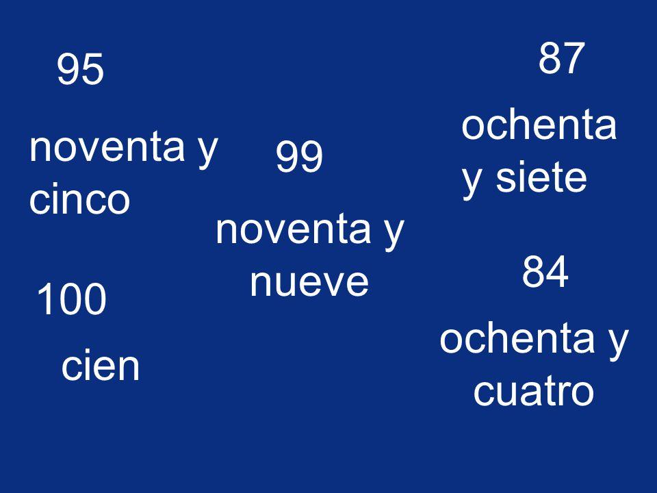 63 sesenta y tres 72 setenta y dos 77 setenta y siete 79 setenta y nueve 65 sesenta y cinco