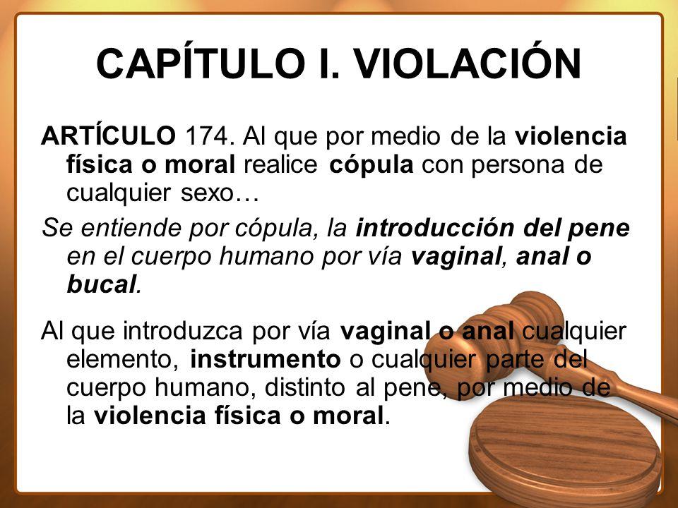 CAPÍTULO I. VIOLACIÓN ARTÍCULO 174.