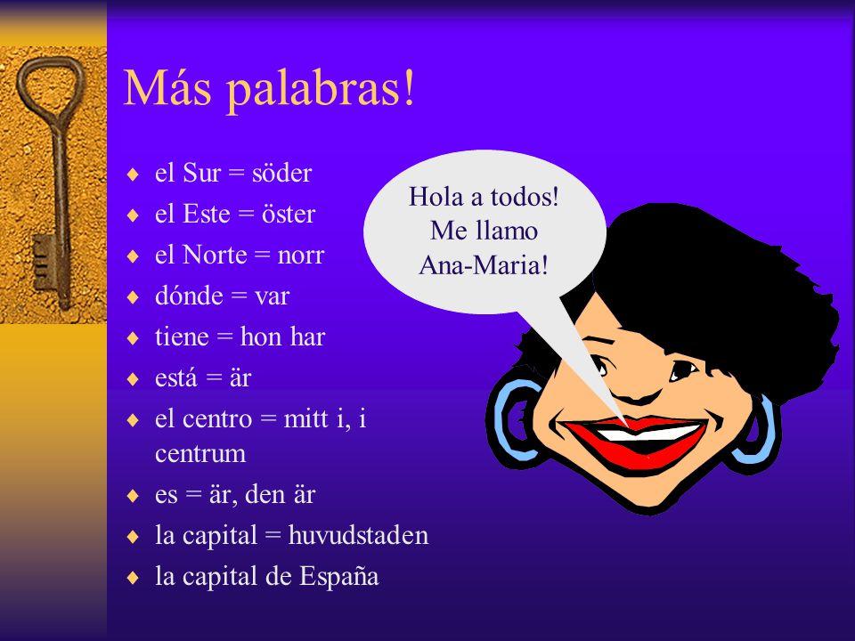 Amigos - glosario  amigo = vän  vive = hon bor  en = i  una casa = ett hus  alta = högt  pero = men  tiene = hon har  toda = hela  que = som  vive = han bor