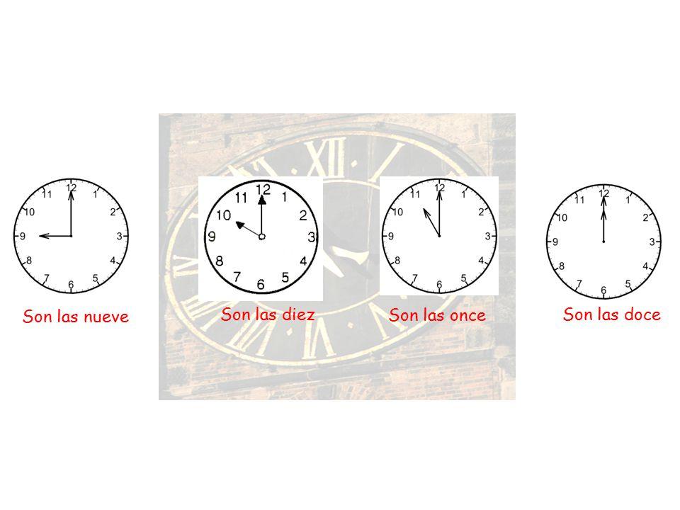 Son las cinco Son las seisSon las siete Son las ocho