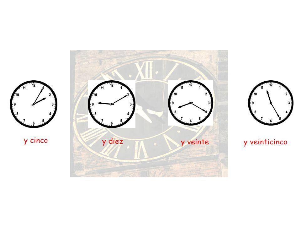 Es la una Son las cinco Son las nueve o o o 1h 5h 9h