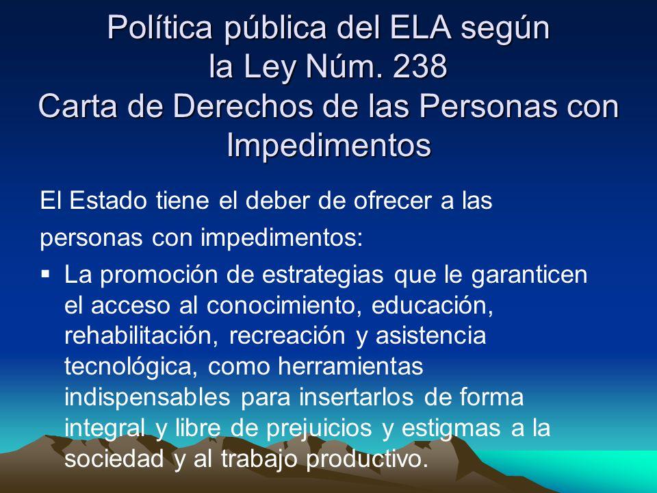 Política pública del ELA según la Ley Núm.