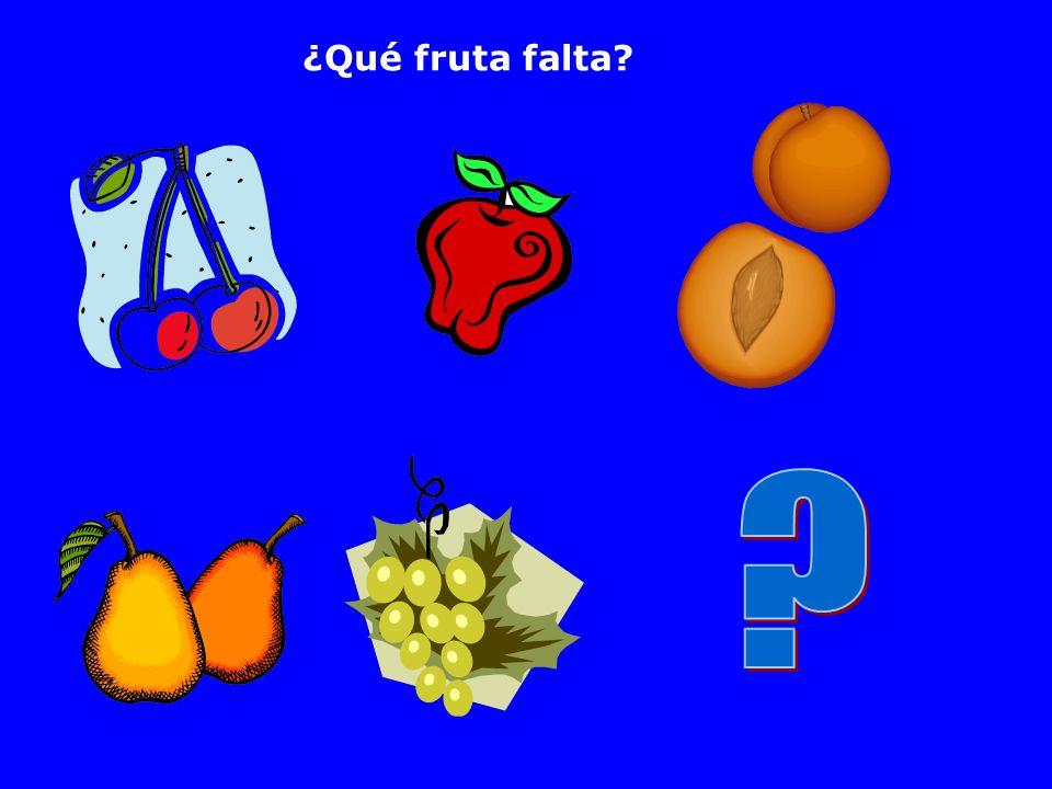 ¿Qué fruta falta
