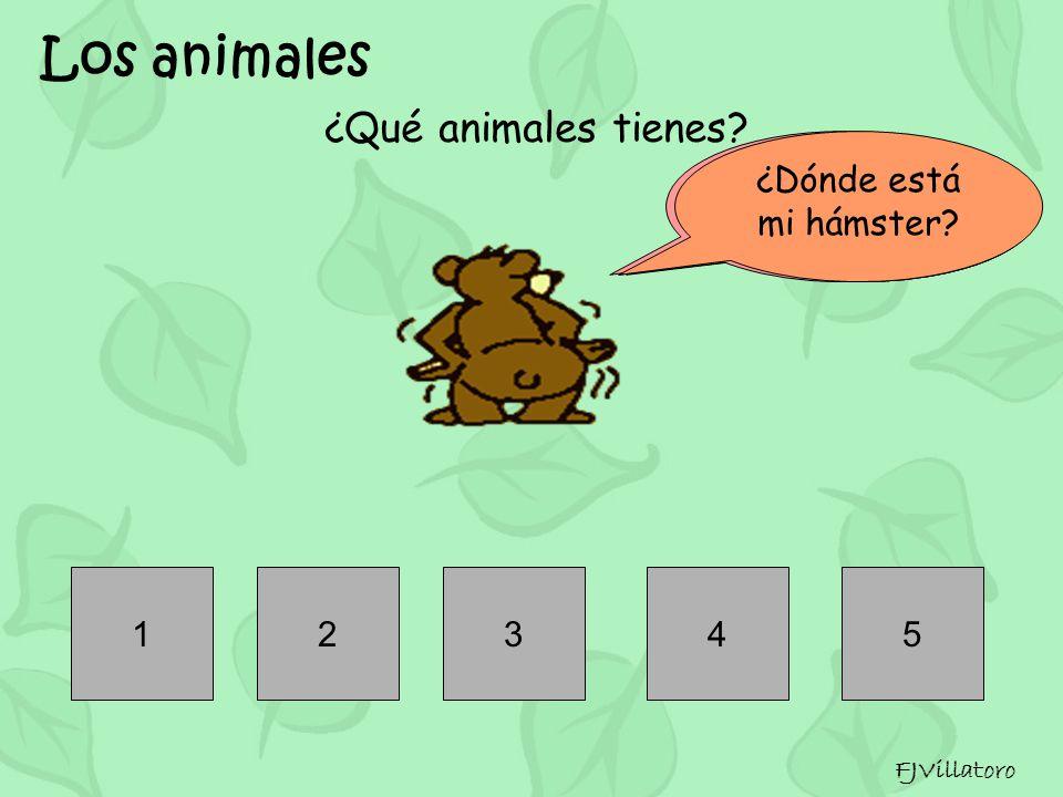 Los animales ¿Qué animales tienes FJVillatoro 1 2 3 4 5 a b c d e