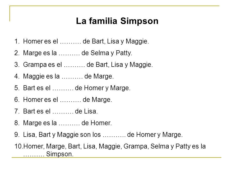 El árbol genealógico de los Simpsons Este soy yo