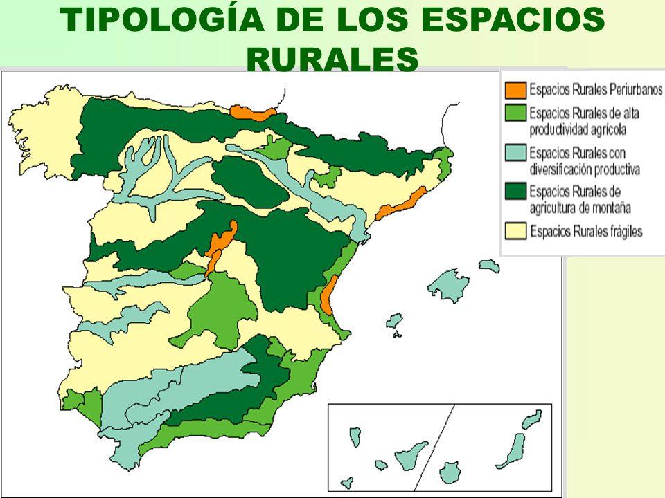 TIPOLOGÍA DE LOS ESPACIOS RURALES