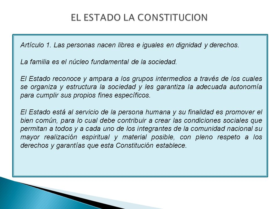 Artículo 1. Las personas nacen libres e iguales en dignidad y derechos.