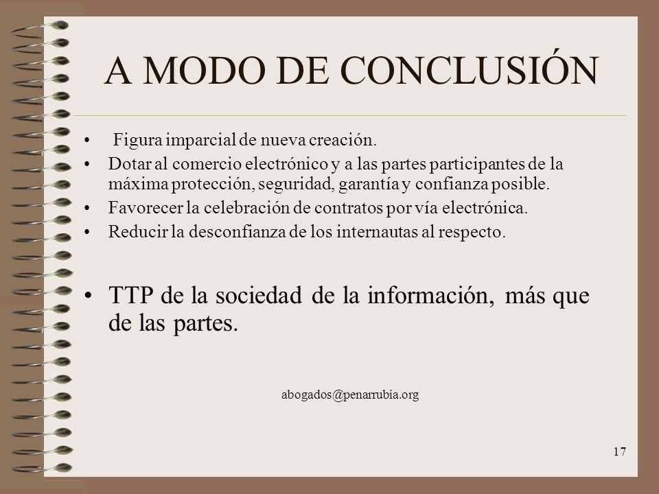17 A MODO DE CONCLUSIÓN Figura imparcial de nueva creación.