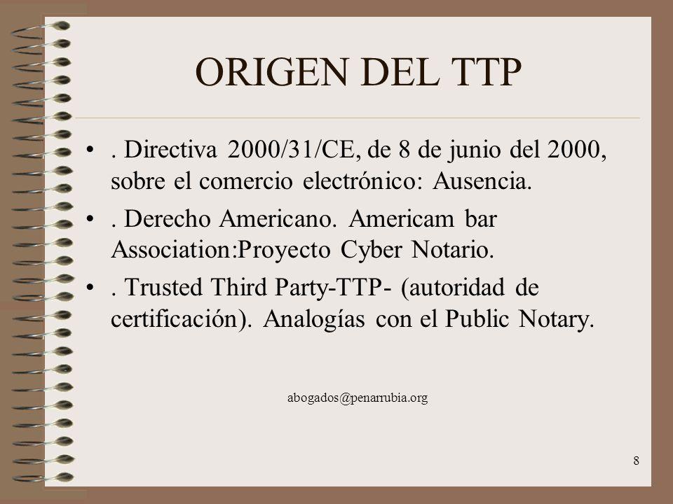 8 ORIGEN DEL TTP.