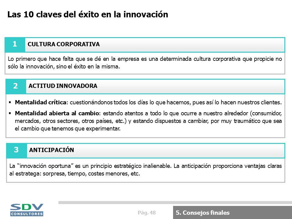 Pág. 48 Las 10 claves del éxito en la innovación 5.