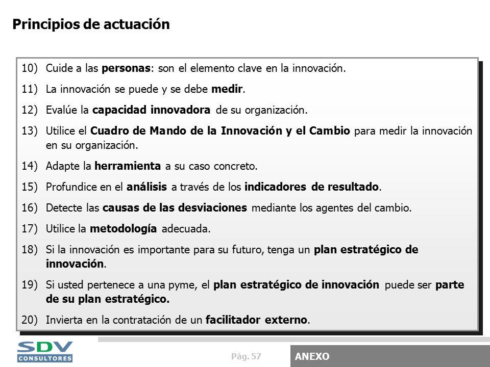 Pág. 57 Principios de actuación 10)Cuide a las personas: son el elemento clave en la innovación.