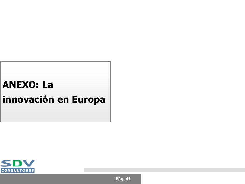 Pág. 61 ANEXO: La innovación en Europa