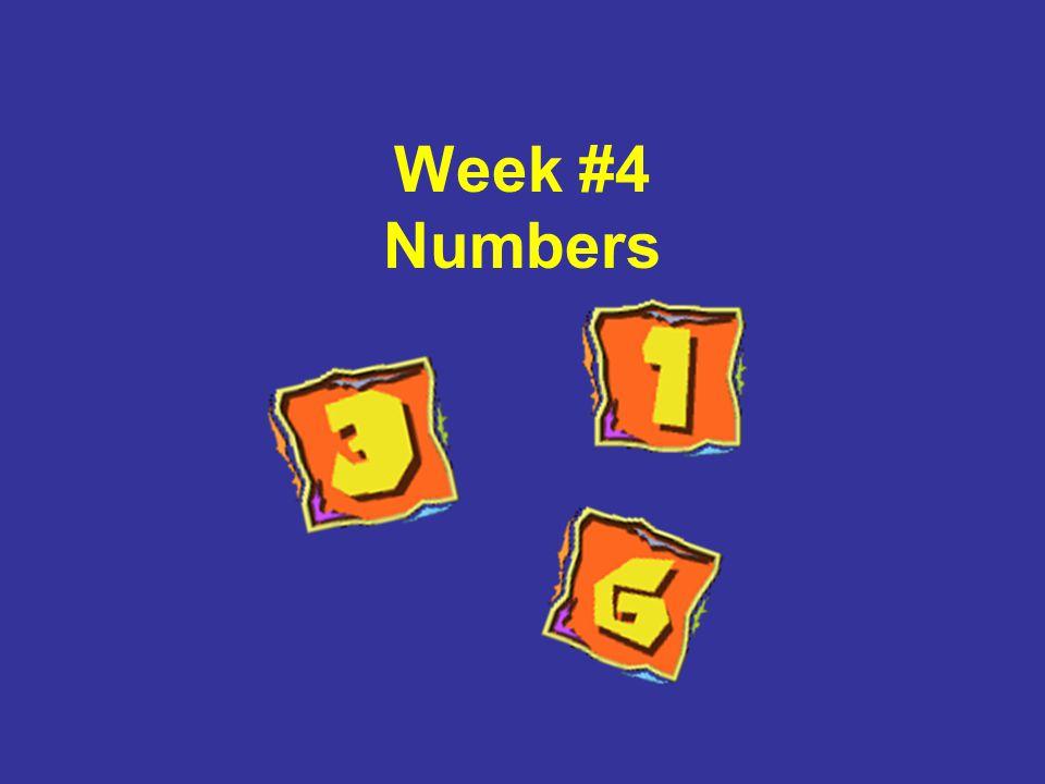 Week #4 Numbers