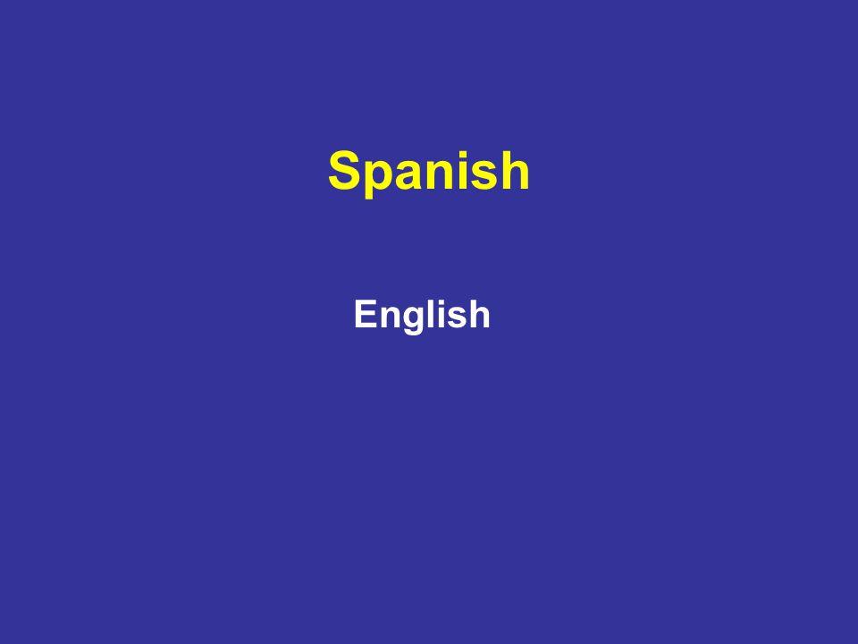 Spanish English