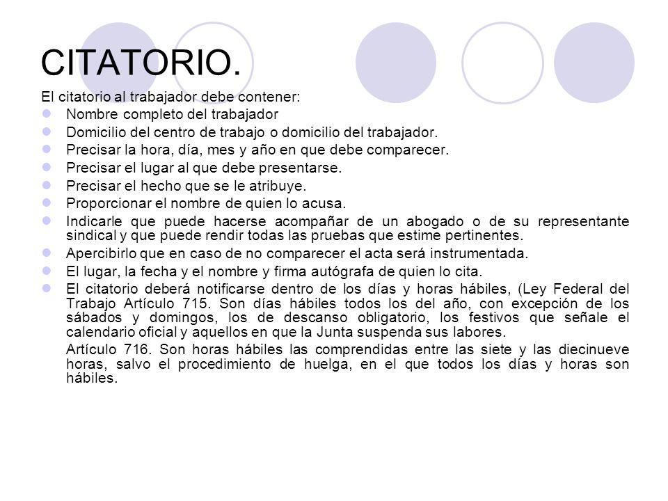 CITATORIO.