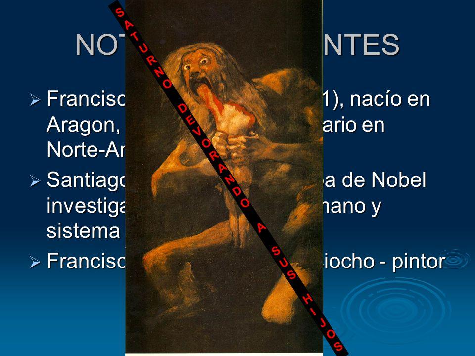 NOTABLE HABITANTES  Francisco Garcés, (1738-1781), nacío en Aragon, fue sacerdote misionario en Norte-América  Santiago Ramón y Cajal, Copa de Nobel investigación de encéfalo humano y sistema nervioso.