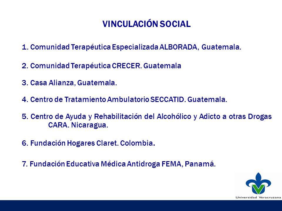 VINCULACIÓN SOCIAL 1. Comunidad Terapéutica Especializada ALBORADA, Guatemala.