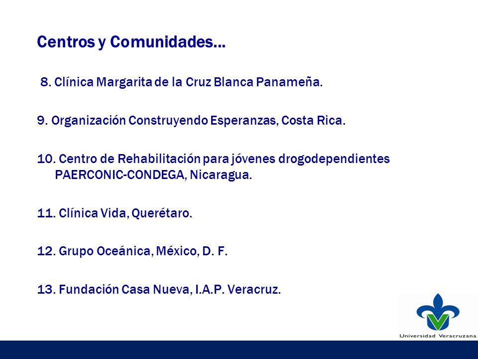 Centros y Comunidades... 8. Clínica Margarita de la Cruz Blanca Panameña.