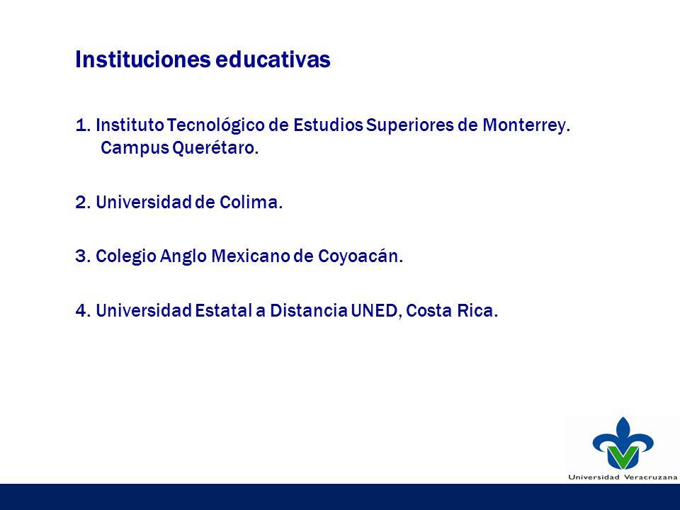 Instituciones educativas 1. Instituto Tecnológico de Estudios Superiores de Monterrey.
