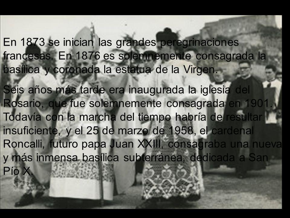 En 1873 se inician las grandes peregrinaciones francesas.