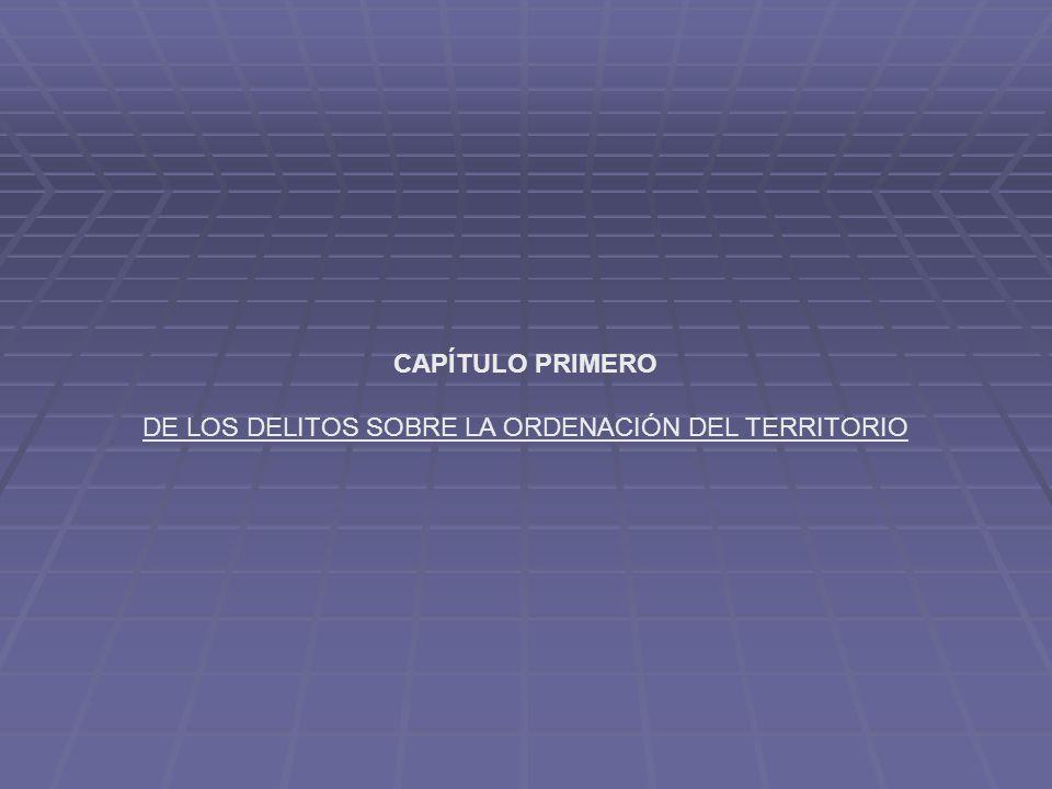 CAPÍTULO PRIMERO DE LOS DELITOS SOBRE LA ORDENACIÓN DEL TERRITORIO