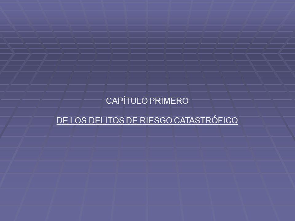CAPÍTULO PRIMERO DE LOS DELITOS DE RIESGO CATASTRÓFICO