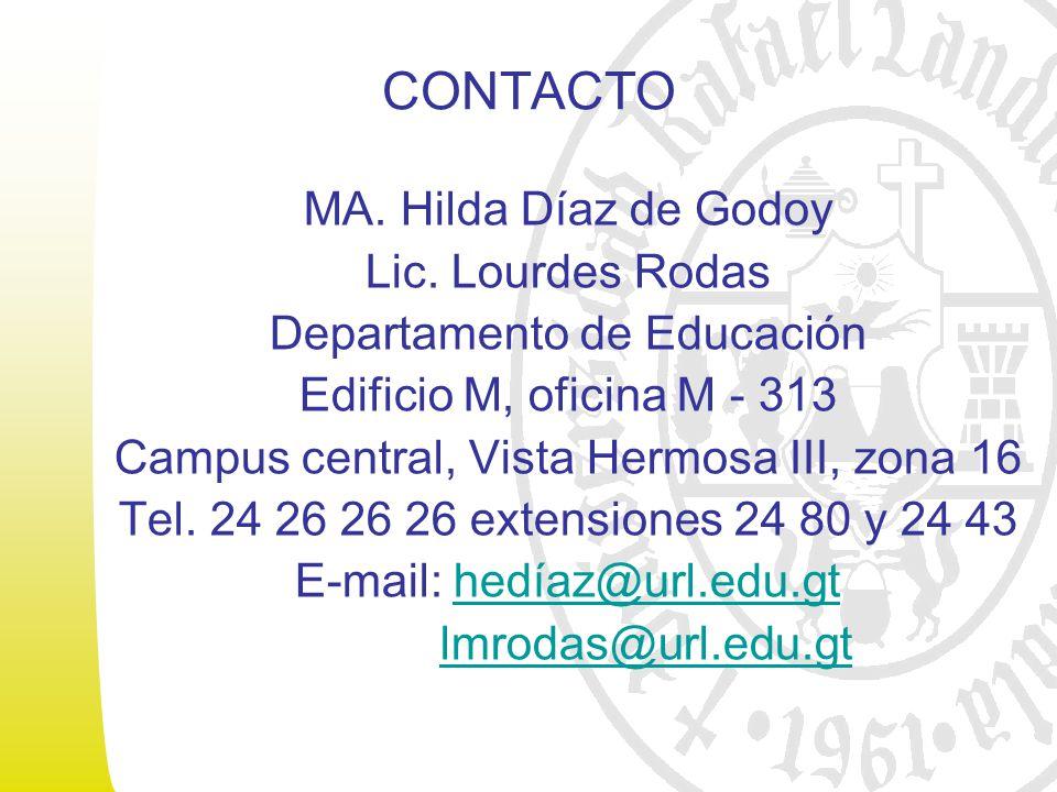 CONTACTO MA. Hilda Díaz de Godoy Lic.